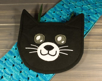 Large Cat Knitting and Crochet Supply Pouch