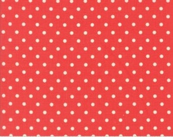Chestnut Street Floral Polka Dot Pomegranate by Fig Tree Quilts - Moda - 1 Yard