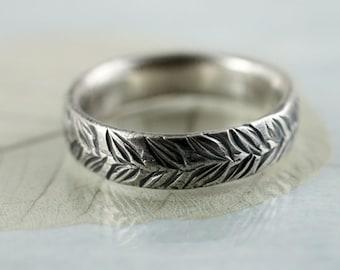 Sterling Band Ring - Laurel Leaf Wreath