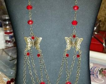 Chain linked butterflies