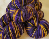 Saturated Sock Selfstriping  3 color Ravens