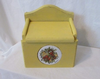 Vintage Painted Recipe Box, Shabby Chic , beach Cottage, kitchen, Distressed File Box