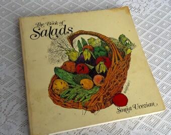 Vintage Cookbook The Book of Salads Vegetable Healthy Recipes 1979