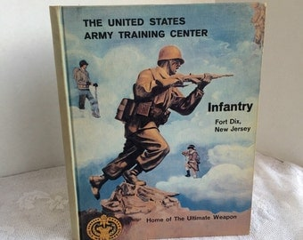 Vintage Hardcover Book Fort Dix Basic Training Yearbook November 18 1960