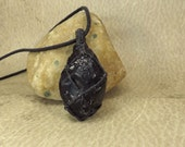 Apache Tear (Obsidian) Pendant - Consolation Forgiveness Protection No More Tears - Reiki Charged Infused Jewelry