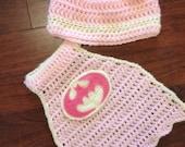 Batgirl crochet costume (0 to 24 months, instant download)
