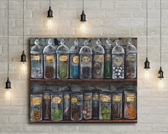 Harry Potter Canvas Print of Snapes Potions Classroom from Hogwarts