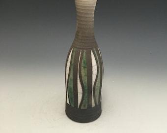 Mini Raku Vase - Through the Trees - Handmade Pottery - Home Decor