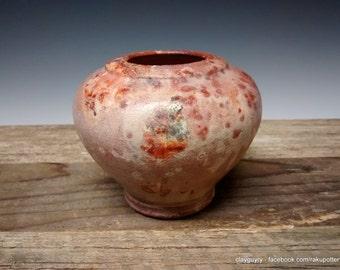 Southwestern Blush - Ceramic Vase - Handmade Pottery - Saggar Pit Fired Raku