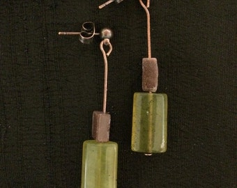 Copper post ear dangles