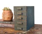Vintage Home Decor / 1930's / Vintage Industrial Wooden Desktop Pull Drawer Cabinet / Primitive Wood Storage Box