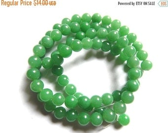 "20%off. AAA  Green Chalcedony smooth roundel beads.14"" Long Strand,Beads Size 10m. Approx."