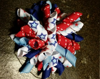 Perfectly Patriotic Korker hair bow