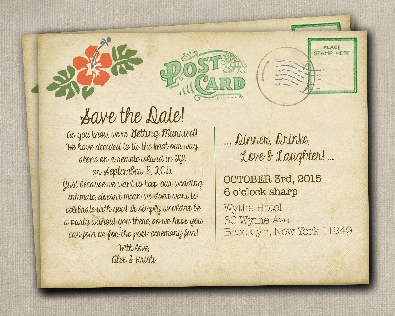 Reception Invites After Destination Wedding Amazing Invitation Save The Date Elopement Invitations Monicamarmolfo