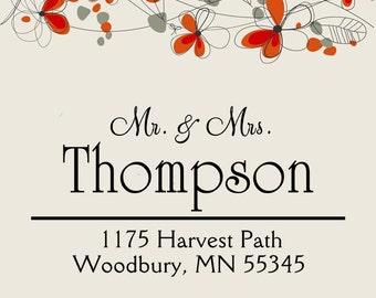Return address stamp,SELF INKING custom address stamp,personalized family address stamp,wedding address stamp,Mr & Mrs stamp,S52