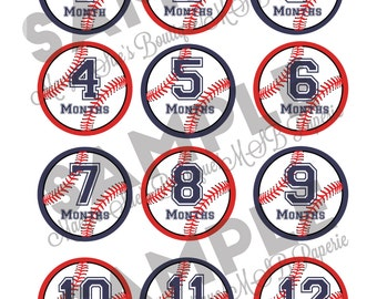 Rookie Year Baseball Party - DIY Monthly Photo Clips
