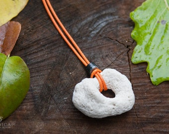 Natural sea coral necklace, Minimalist necklace, White coral, Minimal jewelry