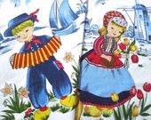 Dutch Print Cotton Curtains