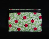 Medium Pouch- Ladybug print cotton