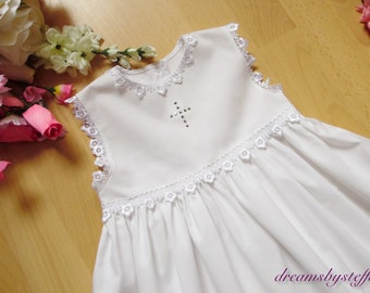 Christening Gown fine lace 1, varioussizes ,100% cotton