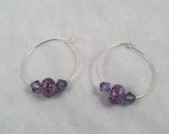 Blackberry Swirl Hoop Earrings