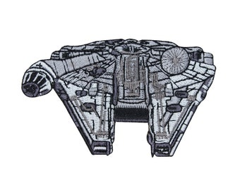 Millennium Falcon Star Wars Patch Han Solo's Smuggler Spaceship Iron-On Applique