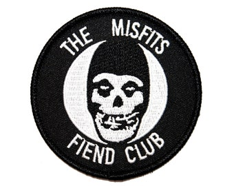 "Ghost Mascot ""The Misfits: Fiend Club"" Iron-On Patch Horror Punk Band Applique"