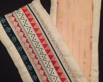 Aztec & Arrow Burp Cloth Set