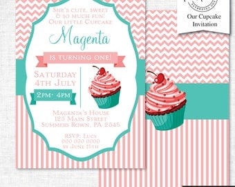 Cupcake Party Invitation | Cupcake Party Invitation Printable | Cupcake Party | Party Printables