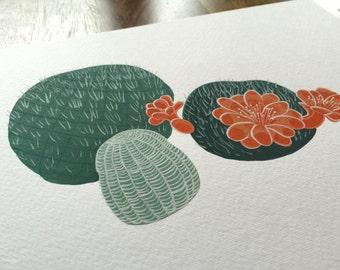 Cactus Original Gouache Painting