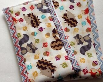 Burp Cloths, Baby Burp Rags, Diaper Burp Cloth, Baby Accessories, Woodland Animals, Gender Neutral