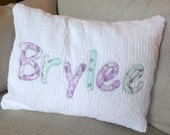 Lavender Shabby Chic Name Pillow Cover 12 x 16