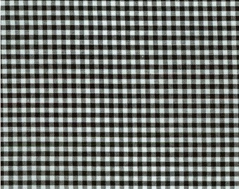 Black Gingham Fabric P-5689-11 BLACK from Carolina Gingham