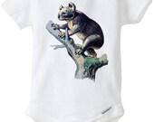 Koala Bear Wild Animals 100% cotton onesie baby children infants 6 to 18 months
