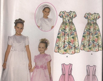 Simplicity Sewing Pattern 7066 - Child's and Girls' Dress in Two Lengths (3-6)