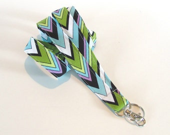 Fabric Lanyard Chevron Badge Holder, Keys Lanyard for Back to School