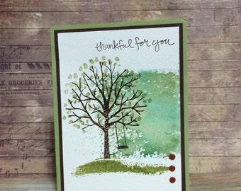 Thank you card, Handmade card, greeting card