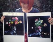 "Danse Macabre and Stung. A set of 2 Limited edition giclée prints, 12 x 12"" (30.5 x 30.5 cm) 1/20"