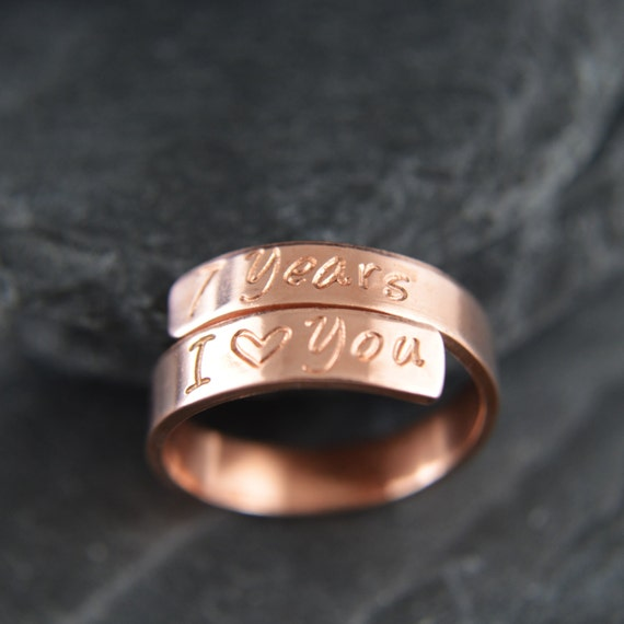 Personalized Pure Copper Ring. Copper By PersonalizedTreazure