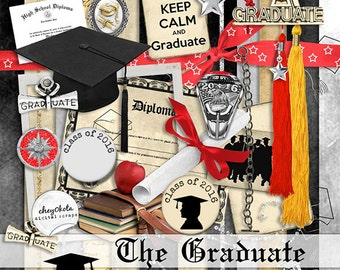 INSTANT DOWNLOAD ~ The 2016 Graduate ~ Scrapbook Kit