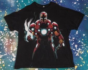 IRON MAN Comics Cartoon T-Shirt Size Xl