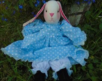 Kelli the Stuffed Bunny Rabbit Doll