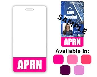 APRN Badge Buddy Vertical Pink Purple