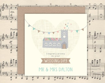 Personalised Wedding Church Card