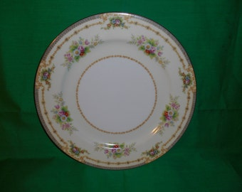 """Four (4), 10 1/4"""" Porcelain Dinner Plates, from Celebrate China, of Occupied Japan, in the CEB-27 Pattern"""
