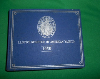 One (1), 1959 LLoyd's Register of American Yachts, with Two Supplements.