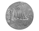 2 Viking Ship 3/4 inch ( 20 mm ) Pewter Buttons