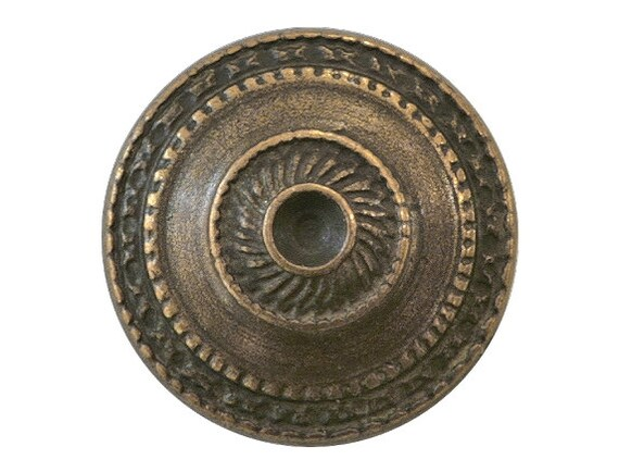 3 Toltec Shield 7/8 inch ( 23 mm ) Metal Buttons Brass Color