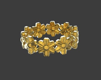 solid gold flower band