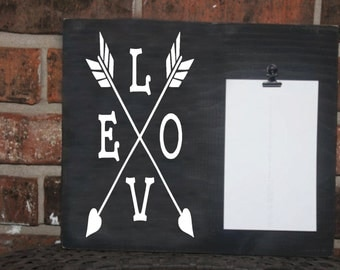 love arrow picture frame 4x6